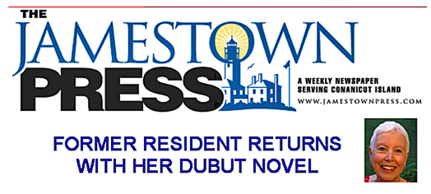 Patsie McCandless article in Jamestown Press RI Debut Novel Becoming Jesse