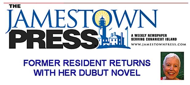 Patsie McCandless article in Jamestown Press RI Debut Novel Becoming Jesse