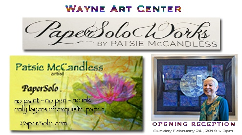 Wayne Art Center PaperSolo Art Exhibit