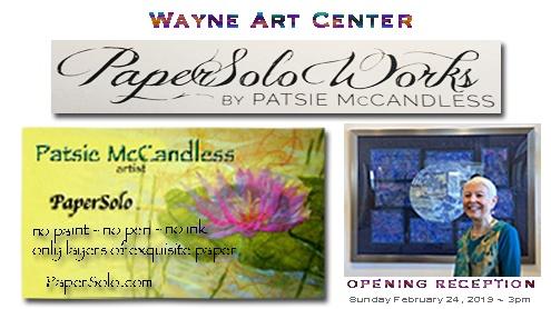 Wayne Art Center PaperSolo Art Exhibit