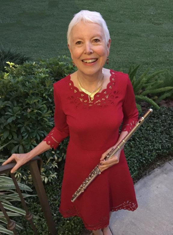 Patsie McCandless with her flute